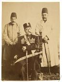 view Muzaffar Al-Din Shah-i Qajar, Shah of Iran, Accompanied by Amin al-Sultan and Mushir al-Dawla [graphic] digital asset number 1