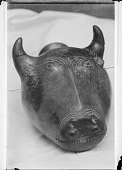 view Sculpted Figure Depicting Bull's Head digital asset: Sculpted Figure Depicting Bull's Head [graphic]