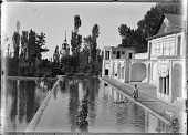 view Tehran (Iran): Saltanat-Abad Palace Complex: Side View of Abdar-Khana (Kitchen) and Pool digital asset: Tehran (Iran): Saltanat-Abad Palace Complex: Side View of Abdar-Khana (Kitchen) and Pool [graphic]