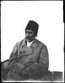 view Studio Portrait: Hassan Ali Khan Garusi (b.1822-d.1899), Known as Amir Lashgar and Amir Nizam digital asset: Studio Portrait: Hassan Ali Khan Garusi (b.1822-d.1899), Known as Amir Lashgar and Amir Nizam [graphic]