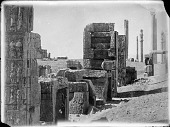 view Persepolis (Iran): Northern Wall of the Throne Hall (Talar-i Takht) digital asset: Persepolis (Iran): Northern Wall of the Throne Hall (Talar-i Takht) [graphic]