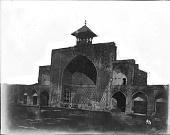view Qazvin (Iran): Masjid-i Shah (al-Nabi Mosque): View of Iwan inside the courtyard digital asset: Qazvin (Iran): Masjid-i Shah (al-Nabi Mosque): View of Iwan inside the courtyard [graphic]