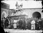 view Tehran (Iran): Nasir Al-Din Shah, at the Foot of his Bronze Statue digital asset: Tehran (Iran): Nasir Al-Din Shah, at the Foot of his Bronze Statue [graphic]