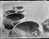 view Quaint Basket Boats (Kufa) on the Tigris River digital asset: Quaint Basket Boats (Kufa) on the Tigris River [graphic]