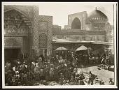 view Qazvin (Iran): Imamzada Hussayn Mosque (Shahzade Hossein Tomb Complex): View of Bazaar in front of Iwan digital asset: Qazvin (Iran): Imamzada Hussayn Mosque (Shahzade Hossein Tomb Complex): View of Bazaar in front of Iwan [graphic]