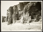 view Naqsh-i Rustam (Iran): Sacred Precinct with Achaemenid Tombs and Sasanian Rock Reliefs Carved into the Husain Kuh Cliff [graphic] digital asset number 1