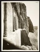view Naqsh-i Rustam (Iran): Achaemenid Tomb of Darius I (foreground) and Xerxes (background) [graphic] digital asset number 1