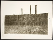 view Persepolis (Iran): Apadana, North Side, West Wing of Ceremonial Stairway with Reliefs Depicting Tribute Procession [graphic] digital asset number 1
