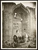 view Tabriz (Iran): Masjid-i Muzaffariyya (Masjid-i Kabud, Blue Mosque): View of the Entrance Portal [graphic] digital asset number 1