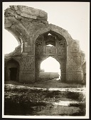 view Tabriz (Iran): Masjid-i Muzaffariyya (Masjid-i Kabud, Blue Mosque): Interior View toward the Small Domed Sanctuary [graphic] digital asset number 1