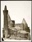 view Bistam (Iran): Mausoleum Complex of Sheikh Bayezid Bastami: Seljuk Minaret on the Foreground [graphic] digital asset number 1