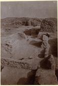 view Excavation of Samarra (Iraq): Palace of the Caliph (Dar al-Khilafa, Jawsaq al-Khaqani, Bayt al-Khalifah), Great Courtyard (Great Esplanade), Northeast Corner: View of Canal system and wall Foundations digital asset: Excavation of Samarra (Iraq): Palace of the Caliph (Dar al-Khilafa, Jawsaq al-Khaqani, Bayt al-Khalifah), Great Courtyard (Great Esplanade), Northeast Corner: View of Canal system and wall Foundations [graphic]