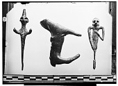 view Baghdad (Iraq), Bujnurd (Iran), and Constantinople (Turkey): Bronze Horse and Metal Pins with Human Figure digital asset: Baghdad (Iraq), Bujnurd (Iran), and Constantinople (Turkey): Bronze Horse and Metal Pins with Human Figure [graphic]