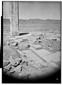 view Excavation of Pasargadae (Iran): Palace 'P': View of Lone Surviving Pier (Anta) Flanking the Long South-East Portico [graphic] digital asset number 1