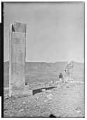 view Excavation of Pasargadae (Iran): Palace 'S': View of Pier 1 (Inscribed Anta) and Pier 2 (Truncated Anta) before Excavation [graphic] digital asset number 1