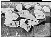 view Excavation of Pasargadae (Iran): Palace 'P': Stone Fragments with Cuneiform inscriptions [graphic] digital asset number 1