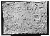 view Naqsh-i Rustam (Iran): View of Squeeze of Inscription, DNb, Aramaic Version, on Middle Register of Tomb of Darius I [graphic] digital asset number 1