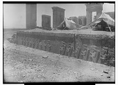 view Excavation of Persepolis (Iran): Tachara Palace (Palace of Darius), Central Fac̦ade of Southern Stairway: View of Relief Picturing Persian Guards Flanking Xerxes Inscription, XPcb, Old Persian Version [graphic] digital asset number 1