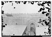 view Baghdad (Iraq): Mustansiriya Madrasa, South-West Facade in Courtyard: View of Triple Arch of Prayer Hall digital asset: Baghdad (Iraq): Mustansiriya Madrasa, South-West Facade in Courtyard: View of Triple Arch of Prayer Hall [graphic]