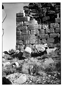 view Excavation of Pasargadae (Iran): Stone Platform of the Tall-i Takht: View of the North End of the West Wall digital asset: Excavation of Pasargadae (Iran): Stone Platform of the Tall-i Takht: View of the North End of the West Wall [graphic]