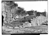 view Excavation of Persepolis (Iran): Great Stairway to the Terrace Complex: View before Excavation digital asset: Excavation of Persepolis (Iran): Great Stairway to the Terrace Complex: View before Excavation [graphic]