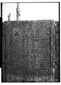 view Excavation of Persepolis (Iran): Apadana, North Side, West Wing of Ceremonial Stairway with Inscription, XPb, Old Persian Version: View before Excavation [graphic] digital asset number 1