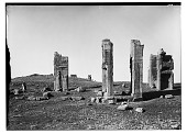view Excavation of Persepolis (Iran): Tripylon (Council Hall): View of the Three Stone Doorways of the Main Hall before Excavation digital asset: Excavation of Persepolis (Iran): Tripylon (Council Hall): View of the Three Stone Doorways of the Main Hall before Excavation [graphic]