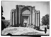 view Hamadan (Iran): Gunbad-i Alaywian: Exterior View of the Mausoleum, Elaborately Decorated with Terra-cotta and Stucco digital asset: Hamadan (Iran): Gunbad-i Alaywian: Exterior View of the Mausoleum, Elaborately Decorated with Terra-cotta and Stucco [graphic]