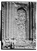 view Hamadan (Iran): Gunbad-i Alaywian, West Wall of Mausoleum's Interior: Remnants of Carved Stucco in High Relief digital asset: Hamadan (Iran): Gunbad-i Alaywian, West Wall of Mausoleum's Interior: Remnants of Carved Stucco in High Relief [graphic]