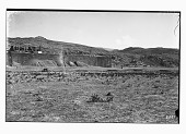 view Excavation of Persepolis (Iran): Eastern Wall of the Terrace Complex: Panoramic View before Excavation digital asset: Excavation of Persepolis (Iran): Eastern Wall of the Terrace Complex: Panoramic View before Excavation [graphic]