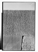 """view Excavation of Persepolis (Iran): """"Foundation Inscriptions,"""" DPf, Elamite Version, Inscribed on Southern Wall of Terrace Complex [graphic] digital asset number 1"""