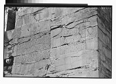 view Excavation of Persepolis (Iran): Gate of All Lands, Trilingual Cuneiform Inscription, XPa, Inscribed on North Jamb of Western Doorway [graphic] digital asset number 1