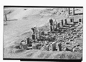 view Excavation of Persepolis (Iran): Panoramic View of the Throne Hall before Excavation digital asset: Excavation of Persepolis (Iran): Panoramic View of the Throne Hall before Excavation [graphic]