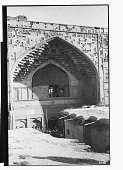 view Shiraz (Iran): Vakil Mosque: View of Entrance Facade with Floral Decorative Tile Panels Dating from the Qajar Period [graphic] digital asset number 1