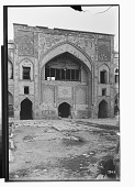 view Shiraz (Iran): Vakil Mosque: View of Courtyard Facade with Floral Decorative Tile Panels Dating from the Qajar Period [graphic] digital asset number 1