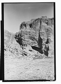 view Vicinity of Hajiabad (Iran): View of Place Called Tang-e Sah Sarvan with Grotto and Pahlavi Inscriptions Mentioning King Shapur I Exploits in Archery [graphic] digital asset number 1