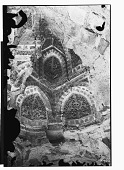 view Baghdad (Iraq): Abbasid Palace in the Qal'a, Courtyard, Ambulatory: Detail View of Carved Terracotta Muqarnas before Restoration digital asset: Baghdad (Iraq): Abbasid Palace in the Qal'a, Courtyard, Ambulatory: Detail View of Carved Terracotta Muqarnas before Restoration [graphic]