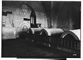 view Damascus (Syria): Shamiyya al-Kubra Madrasa, Tomb Chamber: View of Three Sarcophagi digital asset: Damascus (Syria): Shamiyya al-Kubra Madrasa, Tomb Chamber: View of Three Sarcophagi [graphic]