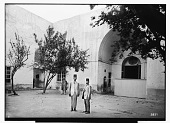 view Damascus (Syria): Nur al-Din Bimaristan, Southern and Western Facade of Courtyard: View of Window Screen, Wrought in Perforated Stucco, as well as the Western Iwan digital asset: Damascus (Syria): Nur al-Din Bimaristan, Southern and Western Facade of Courtyard: View of Window Screen, Wrought in Perforated Stucco, as well as the Western Iwan [graphic]