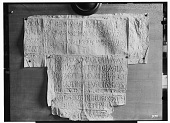view Palmyra (Syria): View of Two Paper Squeezes of Bilingual Inscription in the Palmyrene Dialect of Aramaic (Syriac Script) and in Greek digital asset: Palmyra (Syria): View of Two Paper Squeezes of Bilingual Inscription in the Palmyrene Dialect of Aramaic (Syriac Script) and in Greek [graphic]