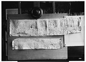 view Palmyra (Syria): View of Two Paper Squeezes of Inscriptions in the Palmyrene Dialect of Aramaic (Syriac Script) digital asset: Palmyra (Syria): View of Two Paper Squeezes of Inscriptions in the Palmyrene Dialect of Aramaic (Syriac Script) [graphic]