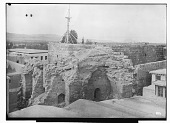 view Citadel of Damascus (Syria): Southeastern Corner of Fortification Walls: View of the Ruins of Tower M digital asset: Citadel of Damascus (Syria): Southeastern Corner of Fortification Walls: View of the Ruins of Tower M [graphic]