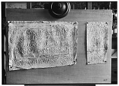 view Palmyra (Syria): View of Two Paper Squeezes of Inscription in the Palmyrene Dialect of Aramaic (Syriac Script) digital asset: Palmyra (Syria): View of Two Paper Squeezes of Inscription in the Palmyrene Dialect of Aramaic (Syriac Script) [graphic]