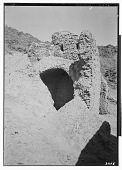 """view Excavation of Kuh-e Khwaja (Iran): Ruins of Ghaga-Shahr, """"Palace-Temple"""" Complex, North Terrace: View of East Tower before Excavation digital asset: Excavation of Kuh-e Khwaja (Iran): Ruins of Ghaga-Shahr, """"Palace-Temple"""" Complex, North Terrace: View of East Tower before Excavation [graphic]"""