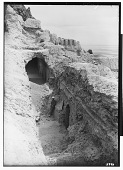 """view Excavation of Kuh-e Khwaja (Iran): Ruins of Ghaga-Shahr, """"Palace-Temple"""" Complex: Ernst Herzfeld Standing in the Painted Gallery digital asset: Excavation of Kuh-e Khwaja (Iran): Ruins of Ghaga-Shahr, """"Palace-Temple"""" Complex: Ernst Herzfeld Standing in the Painted Gallery [graphic]"""
