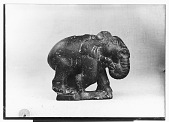 view Sassanid Stone Sculpture Depicting an Elephant (left side) [graphic] digital asset number 1