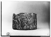 view Round Stone Hittite Pyxis Bearing on its Surface, in Low Relief, Banquet Scene and Procession digital asset: Round Stone Hittite Pyxis Bearing on its Surface, in Low Relief, Banquet Scene and Procession [graphic]