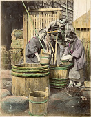view [Women with wooden barrels], [1860 - ca. 1900]. [graphic] digital asset number 1