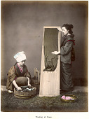 view Washing at home, [1860 - ca. 1900]. [graphic] digital asset number 1