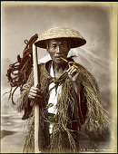 view B 95 Man with rain coat, [1860 - ca. 1900]. [graphic] digital asset number 1